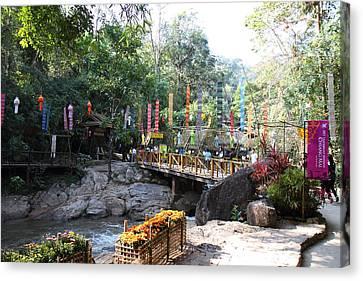 Maesa Elephant Camp - Chiang Mai Thailand - 01133 Canvas Print by DC Photographer