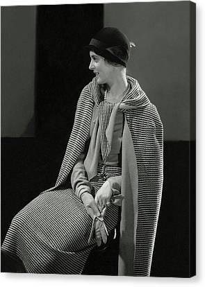 Cloche Hat Canvas Print - Magaret Shea Wearing A Chanel Suit by Edward Steichen