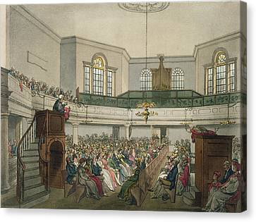 Magdalen Chapel Canvas Print by Pugin And Rowlandson