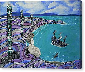Magdalen Island Explorers Canvas Print by Barbara St Jean