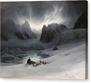 Magdalena Bay Canvas Print by Auguste Francois Biard