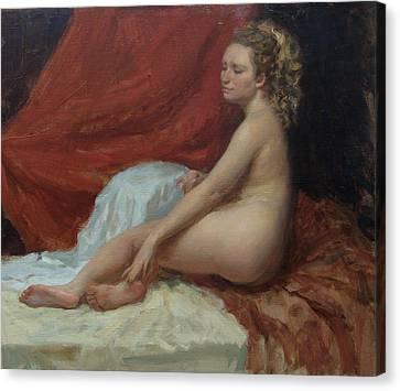 Magdalena Canvas Print by Korobkin Anatoly