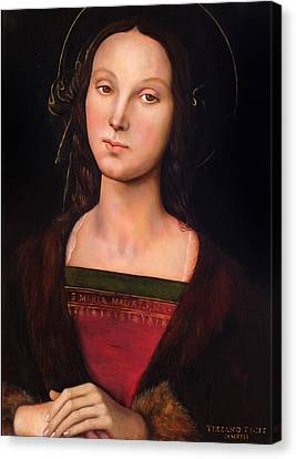 Magdalene After Perugino Canvas Print by Massimo Tizzano