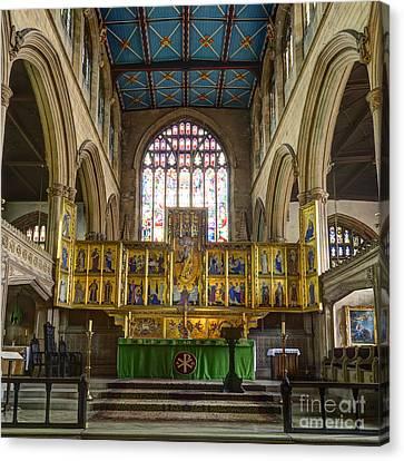 Magdalene Church Altar Canvas Print by Steev Stamford