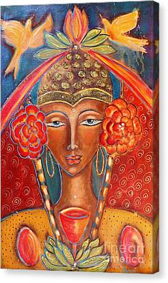 Magdalene Of The Eightfold Path Canvas Print by Maya Telford