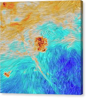 Magellanic Clouds Magnetic Field Canvas Print by Planck Collaboration/esa