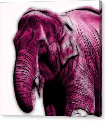Magenta Elephant 3374 - F - S Canvas Print by James Ahn