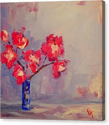 Magenta Flower Arrangement Canvas Print by Patricia Awapara