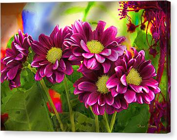 Magenta Flowers Canvas Print by Chuck Staley