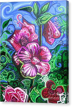 Music Inspired Art Canvas Print - Magenta Fluer Symphonic Zoo II by Genevieve Esson