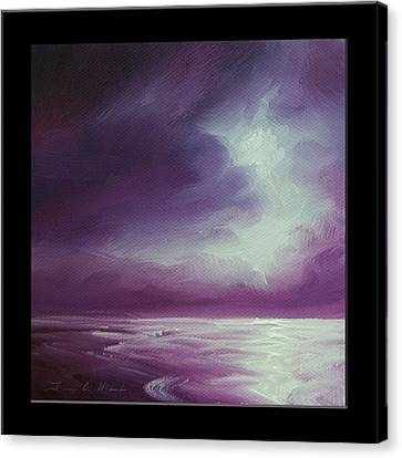 Headstones Canvas Print - Magenta Moon Iv by James Christopher Hill