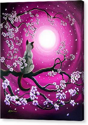 Cherry Blossoms Canvas Print - Magenta Morning Sakura by Laura Iverson