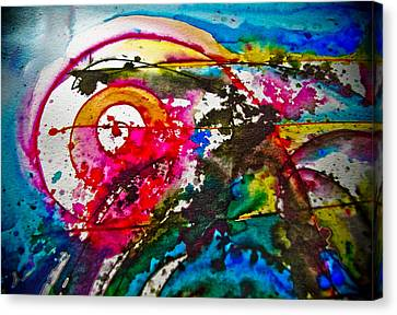 Magenta Spiral Canvas Print by Adria Trail