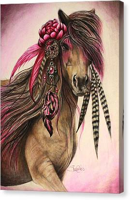 Magenta Warrior  Canvas Print by Sheena Pike