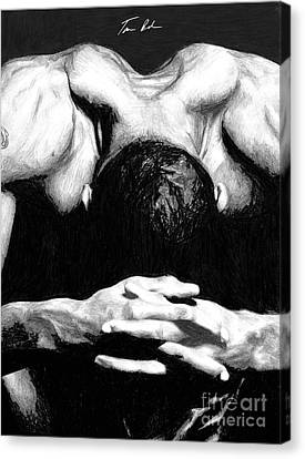Canvas Print featuring the drawing Maggette by Tamir Barkan
