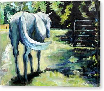 Maggie The Horse In The Pasture Canvas Print