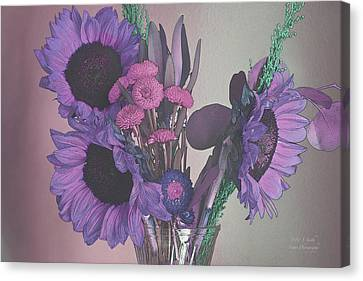 Maggies Flowers In Purple Canvas Print by Steve and Sharon Smith