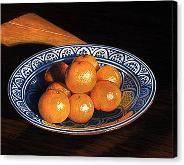 Maggie's Oranges Canvas Print by Norm Holmberg