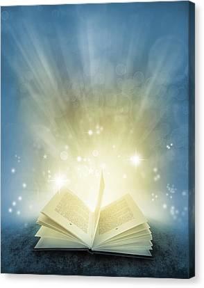 Magic Book Canvas Print by Les Cunliffe