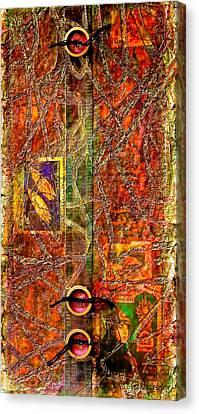 Colorful Paints Canvas Print - Magic Carpet by Bellesouth Studio