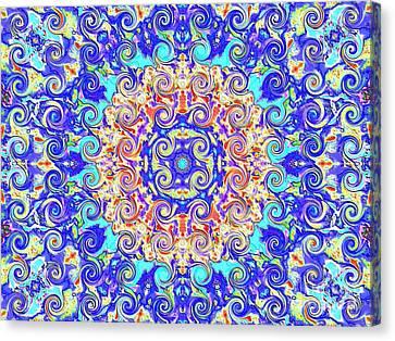 Magic Carpet Ride Blue Canvas Print by Annette Allman