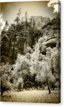 Canvas Print featuring the photograph Magic Cliffs Outside Sedona by Dave Garner