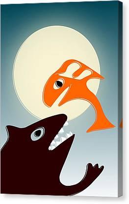 Magic Fish Canvas Print by Anastasiya Malakhova