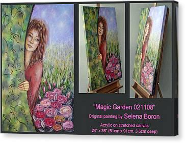 Magic Garden 021108 Comp Canvas Print by Selena Boron