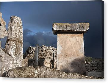 Bronze Edge In Minorca Called Talaiotic Age Unique At World - Magic Island 1 Canvas Print by Pedro Cardona