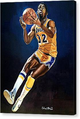 Magic Johnson - Lakers Canvas Print