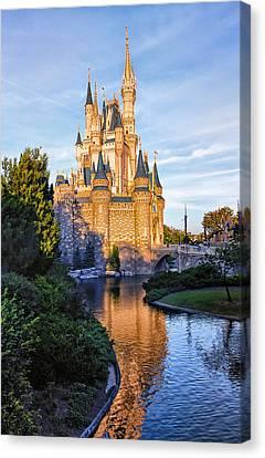 Magic Kingdom Castle Canvas Print by Bill Tiepelman