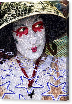 Magic Lady Goddess Canvas Print by Keith Dillon