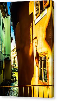 Magic Lantern On The Walls Of Annecy Canvas Print by Jenny Rainbow
