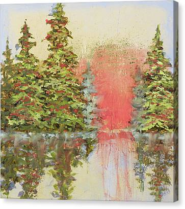 Canvas Print featuring the painting Magic Moment by Vic  Mastis