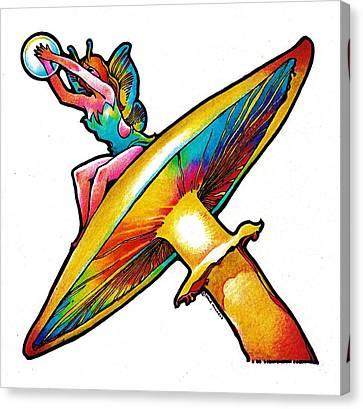 Magic Mushroom Canvas Print by Dale Michels