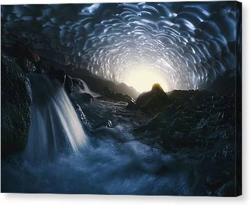 Winter Light Canvas Print - Magic Of Kamchatka by Rostovskiy Anton