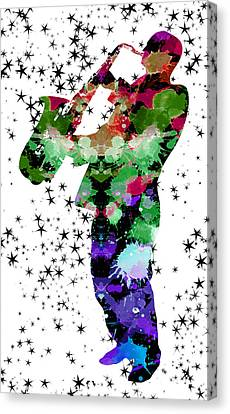 Rhythm And Blues Canvas Print - Magic Of The Sax Man by Daniel Hagerman