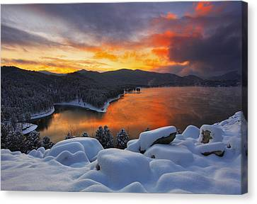 Thin Canvas Print - Magic Sunset by Kadek Susanto