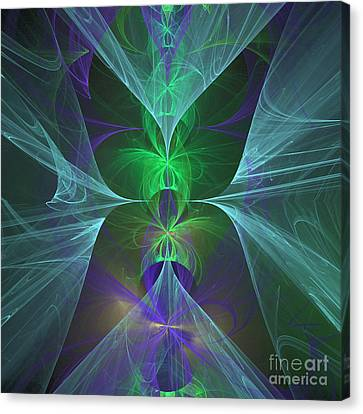 Canvas Print featuring the digital art Magic Symbol by Ursula Freer