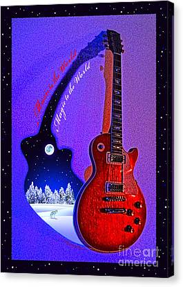 Magic To The World... Music To The World .2 Canvas Print by Gem S Visionary