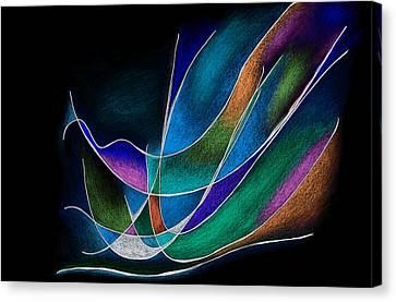 Magic Wings In Black Canvas Print by Alla Ilencikova