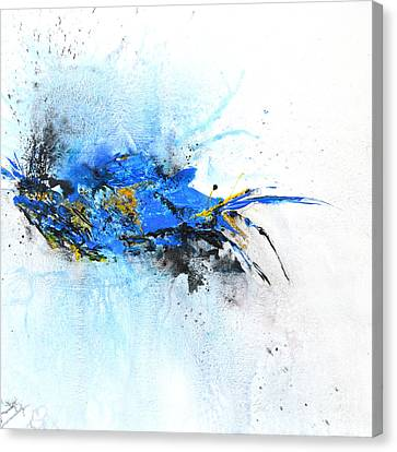 Magical Blue 1- Abstract Art Canvas Print by Ismeta Gruenwald