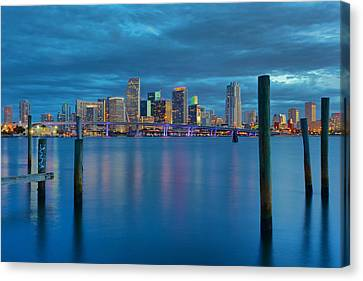 Magical Blue Hour Canvas Print by Claudia Domenig