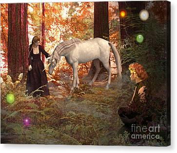 Magical Encounter Canvas Print by Methune Hively