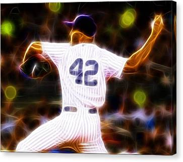 Magical Mariano Rivera Canvas Print by Paul Van Scott
