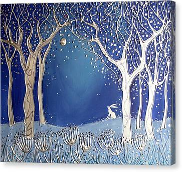 Silver Moonlight Canvas Print - Magical Moonlight by Angie Livingstone