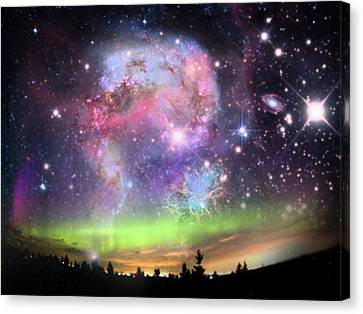 Jewels In The Sky Canvas Print