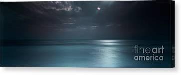 Magical Night On The Beach Canvas Print