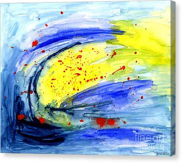 Canvas Print featuring the painting Magical Sky  by Mukta Gupta