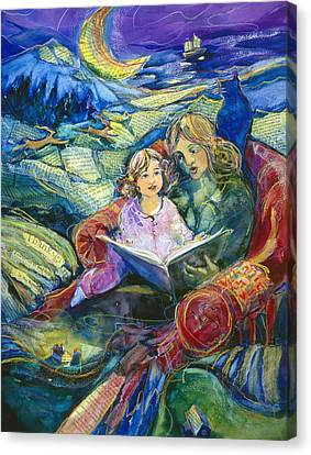 Bedtime Canvas Print - Magical Storybook by Jen Norton